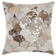 Modern Metalic Balloons Natural Leather Hide Silver Grey Pillow