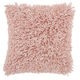 Modern Space Dyed Shag Rose Pillow