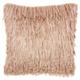 Modern Braided Shag Blush Pillow