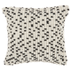 Modern Loop Dots Outdoor Pillows Black Pillow