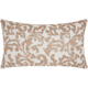 Modern Beaded Leaves Luminescence Champagne Pillow