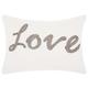 Modern Beaded Love Luminescence White Pillow