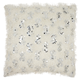 Modern Shaggy Sequins Shag Ivory Pillow