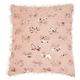Modern Shaggy Sequins Shag Rose Pillow
