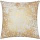 Modern Distressed Metallic Luminescence Gold Pillow