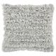 Modern Paper Loop Shag Grey Pillow