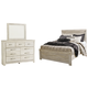 Bellaby Queen Panel Bed with Mirrored Dresser