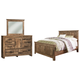 Blaneville Queen Panel Bed with Mirrored Dresser