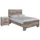 Effie Full Panel Bed with Nightstand