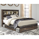 Drystan Queen Bookcase Bed with 4 Storage Drawers