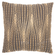 Met Wavy Lines Life Styles Charcoal Pillow