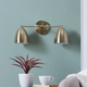 Transitional Derra 2-Light Vanity Sconce