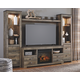 Trinell 4-Piece Entertainment Center with Electric Fireplace