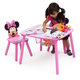 Delta Children Disney Minnie Mouse Table and Chair Set with Storage