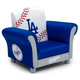Delta Children MLB Los Angeles Dodgers Kids Upholstered Chair