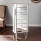 Mirrored Jewelry Armoire with 7 Drawers