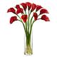 Home accent Mini Calla Lily Silk Flower Arrangement