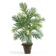 Home Accent Areca Palm with Wicker Basket Silk Plant