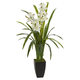"Home Accent 39"" Cymbidium Orchid Artificial Plant"