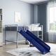 Kids Junior Twin Loft Bed with Slide