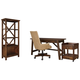 Baldridge Home Office Desk with Chair and Storage