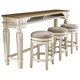 Realyn Counter Height Dining Table and 3 Barstools