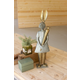 Decorative Galvanized And Brass Rabbit With Carrot