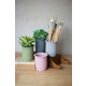 Decorative Set of Four Clay Flower Pots