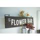 Decorative Wooden Flower Bar Sign