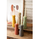 Decorative Set of Five Colorful Clay Taper Holders
