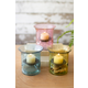 Decorative Set of Three Mini Glass Votive Cylinders