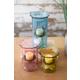 Decorative Set of Three Glass Votive Cylinders