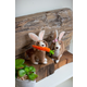 Decorative Set of Two Felt Dogs with Rabbit Ears