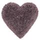Decorative Mina Victory Shag Lavender Frame Heart Throw Pillow