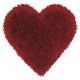 Decorative Mina Victory Shag Deep Red Frame Heart Throw Pillow