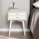 Two Drawer Nightstand with Tapered Legs