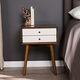 Two Tone Nightstand with Tapered Legs
