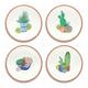 Melamine Rio Succulents Salad Plates (Set of 4)