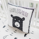 My Baby Sam Little Black Bear Throw Pillow 14x14