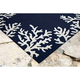 Home Accents Fortina Beach Border Indoor/Outdoor Rug 5' x 7'6