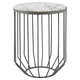 Modern Helm Accent Table in Zinc