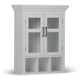 Contemporary Avington Two Door Wall Bath Cabinet with Cubbies