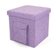 Kids Folding Storage Cube with Exterior Multi Purpose Pocket