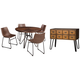 Centiar Dining Table and 4 Chairs with Storage