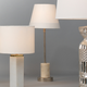 Marble Darcey Table Lamp with Tapered Shade