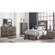 Drystan Twin Panel Bed with Dresser