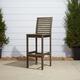 Vifah Renaissance Outdoor Hand-scraped Wood Bar Chair