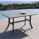 Vifah Renaissance Outdoor Hand-scraped Wood Table with Curvy Legs