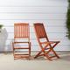 Vifah Malibu Outdoor Folding Bistro Chair (Set of 2)