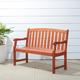 Vifah Malibu Outdoor 4ft Wood Garden Bench